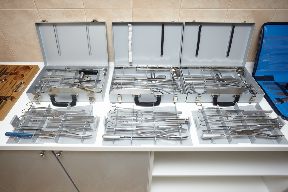 close up of surgery equipment
